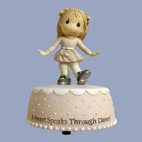 Precious Moments Music Box Figurine Girl Dancing