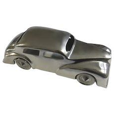 Polished Cast Aluminum Hot Rod 1940's Ford Super Deluxe Car Display