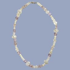 Crystal Lavender Beaded Sparkle Necklace