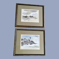 Coastal Beach Seascapes Watercolor Paintings