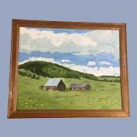 Robert Carr, Rural Barn House Oil Painting