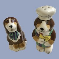 Dogzilla Chef Dog Salt and Pepper Shakers by Henriksen Imports Discontinued