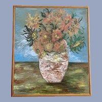 Joel Martone, Sunflowers Expressionist Oil Painting