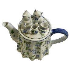 Andrea by Sadek Kitty Cat Tea Party Teapot