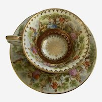 Old Vienna Wunsiedel Bavaria Demitasse Cup Saucer Courting Couples