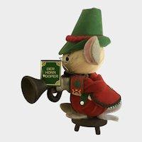 Kurt Adler Christmas Ornament Corn Husk Mouse Musician Der Horn Pooper