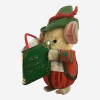 Kurt Adler Christmas Ornament Corn Husk Mouse Singer Der Christ Yodels