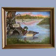 Joyce C Musslewhite (1925-2009), Nesting Ducks Oil Painting