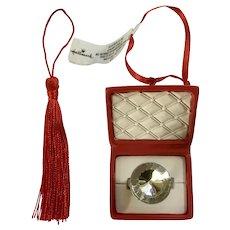 Retired Hallmark Faux Diamond Ring in Box Christmas Ornament
