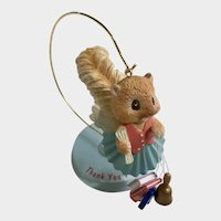Squirrel Teacher Angel Ornament Figurine LI'L Guardians Enesco