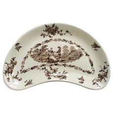 Mason's Watteau Brown Crescent Salad Plate