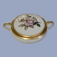 Noritake Oliver Sugar Bowl With Lid Pink Rose Gold Trim #5254