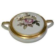 Noritake Oliver Sugar Bowl With Lid Pink Rose Gold Trim #5254