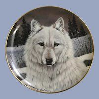 Wolf Plate Lone Wolf The Franklin Mint Collectors Plate