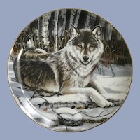 Wolf Plate Eyes of Midnight The Franklin Mint Collectors Plate