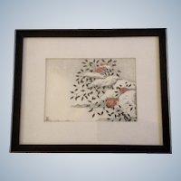 Aoyama Masaharu (Japanese 1893-1969), Nandin in Snow Woodblock Print