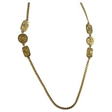 Long Gold-Tone Chain with Small Segments Necklace 54""