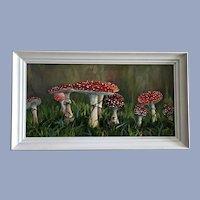 Glenda Willis, Fly Agaric Mushrooms Oil Painting