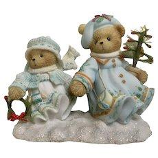 Cherished Teddies Bears Figurine Selma and Ariana #112390 Retired