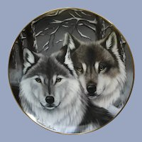 Wolves Plate Eyes of Winter The Franklin Mint Collectors Plate