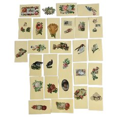 27 Victorian Trade Cards 1875-1899 Floral Hand Die Cut Embossed Paper