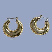 Silver and Gold-Tone Loops Earrings for Pierced Ears 925