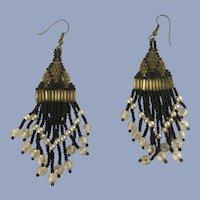 Dangling Beaded Clusters Earrings for Pierced Ears