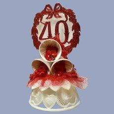 Amidan's 40th Wedding Anniversary Cake Topper Bells 1980's Hand Made