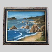 C Reither, Coastal Seascape Oil Painting