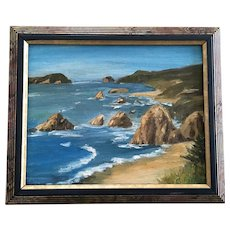 C Reither, Coastal Seascape Oil Painting
