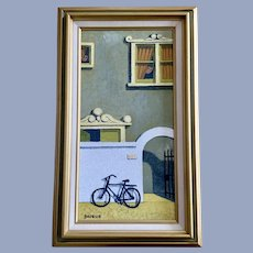 Herb Brosius, A Visitor Cityscape Oil Painting
