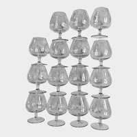 1937 World's Fair Eiffel Tower VP Made in France Crystal Cocktail Glasses