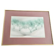 Winter Snow Drifts Landscape Watercolor Painting