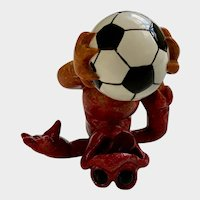 Amusing Kitty's Critters Frog Goooaal! Soccer Ball Collectible Whimsical Figurine
