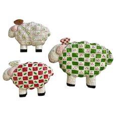 Adorable Sheep Wearing Christmas Sweaters Ewe Figures