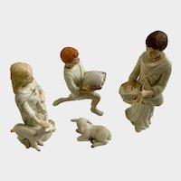 Lenox Christmas Classic Nativity Collection Children Of Bethlehem Porcelain Figurine Set 1995