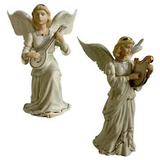 Lenox Christmas Classic Nativity Collection Two Angels Porcelain Figurines