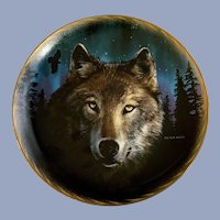 Wolf Plate Midnight Magic The Franklin Mint Collectors Plate
