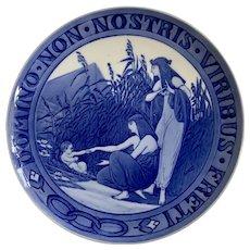 Royal Copenhagen Commemorative Plate Moses Domino Non Nostris Viribus Freti 1918