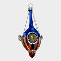 Lucky Penny Christmas Ornament Inge Glas Old World Blown Glass Germany #3664