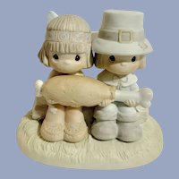 Enesco Precious Moments Brotherly Love Thanksgiving Figurine