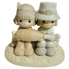 Enesco Precious Moments Brotherly Love Thanksgiving Figurine
