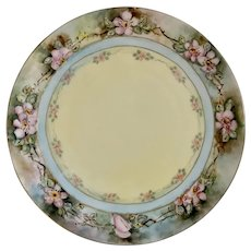 Vintage Favorite Bavaria Plate Hand Painted Cherry Blossoms
