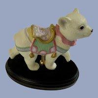 Lenox Baby Polar Bear Carousel Horse Figurine 1995