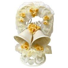 Amidan's Wedding Cake Topper Love & Bells  Hand Made 1980's
