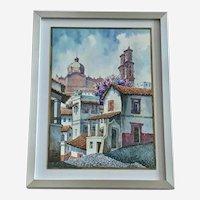 Gabi Taxco Mexico Cityscape Watercolor Painting
