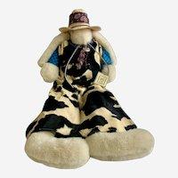 "Bunnies By the Bay Pony Boy Rabbit Stuffed Plush Animal Signed 28"""