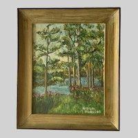 Forest Creek Landscape Oil Painting