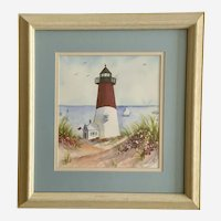 Breten Bryden, Cape Cod Lighthouse Watercolor Painting