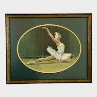 Robert (Bob) W Dover, Swan Lake Ballerina Dancer Gouache Watercolor Painting
